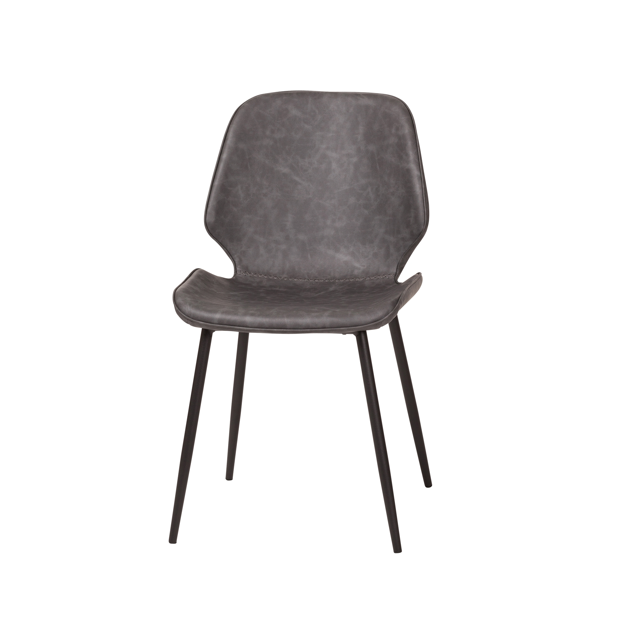 Cougar Distressed Grey Leather Dining Chair