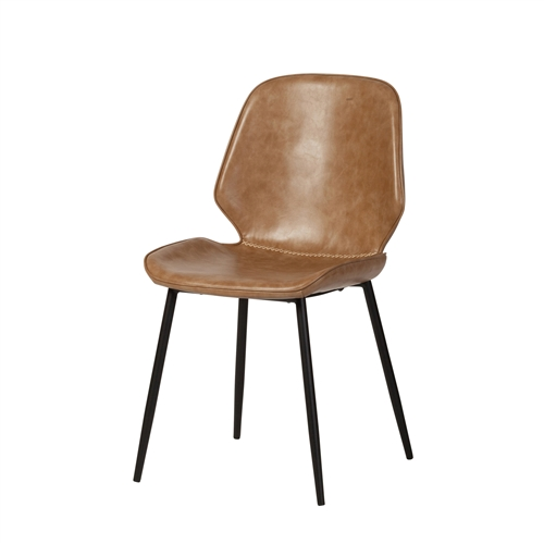 Cougar Distressed Taupe Leather Dining Chair