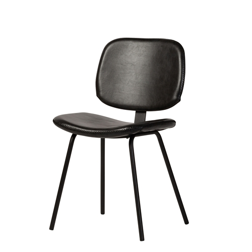Casper Dining Chair - Black Leather