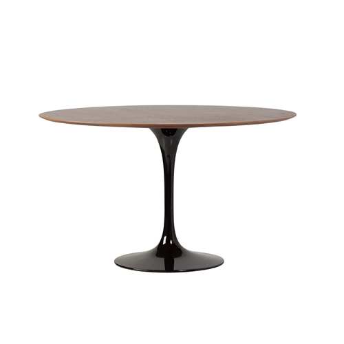 Saarinen Style Tulip Walnut Dining Table, 48""