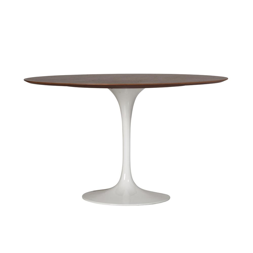 Saarinen Style Tulip Walnut Dining Table - 48 tulip table