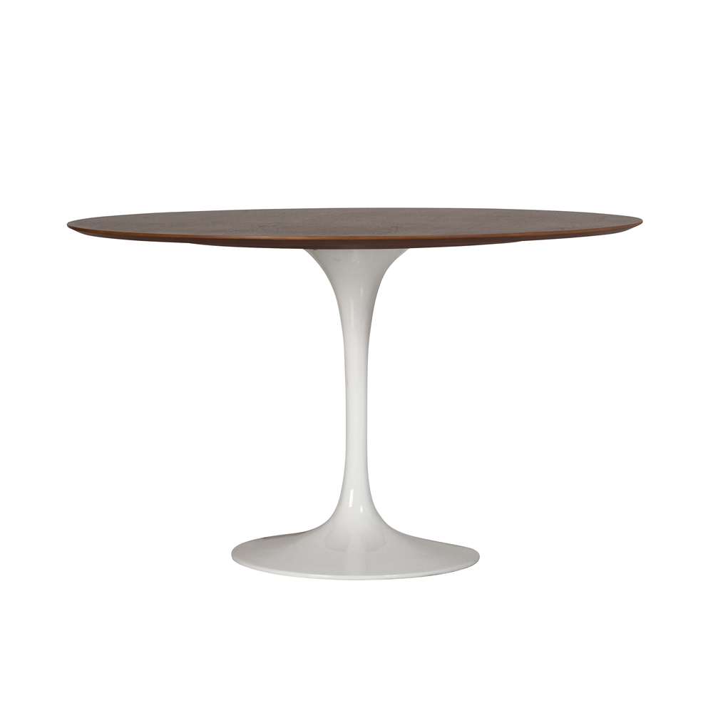 Saarinen Style Tulip Walnut Dining Table 48