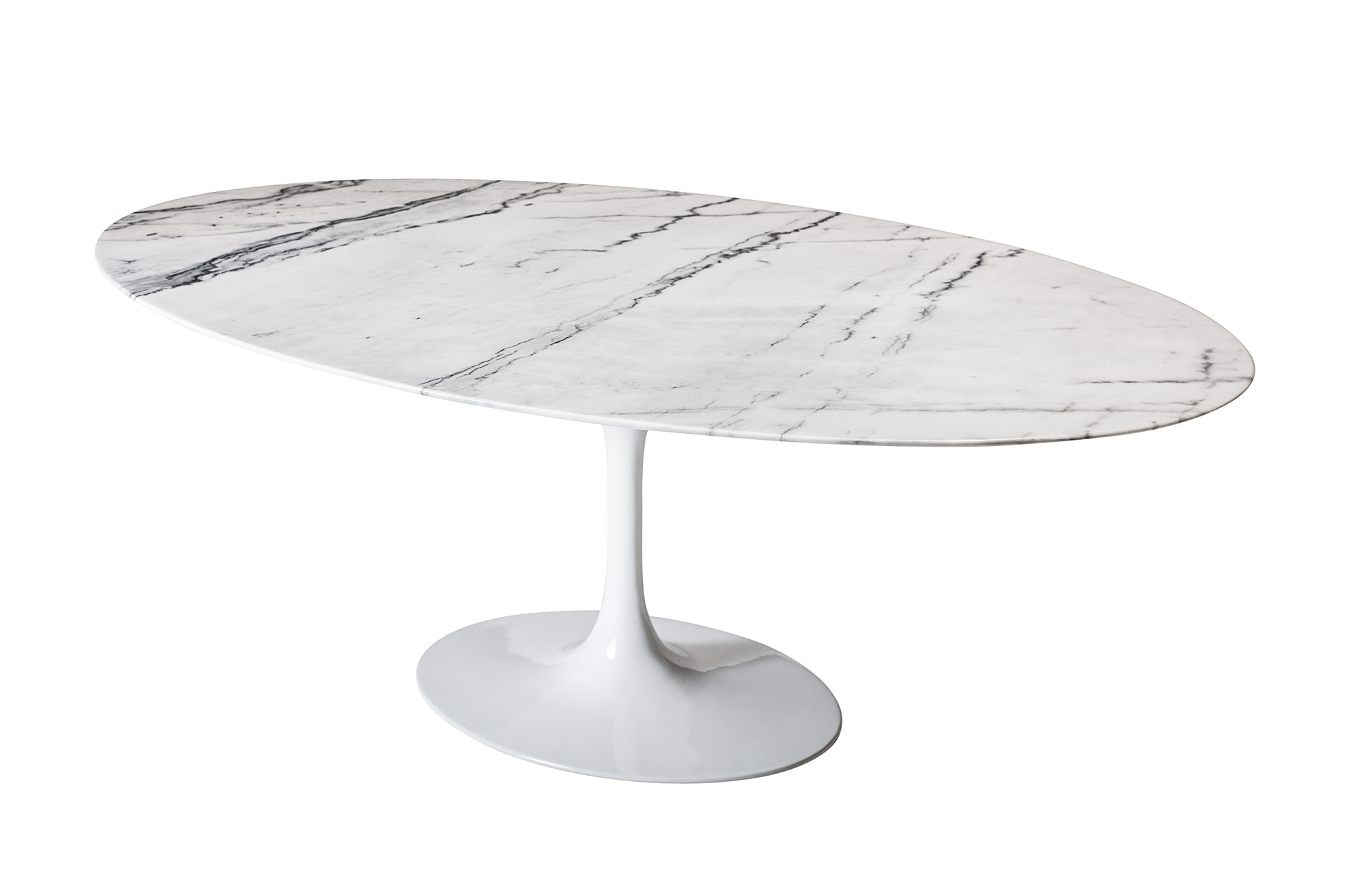 Saarinen Style Tulip Marble Dining Table Oval - Saarinen carrara marble table