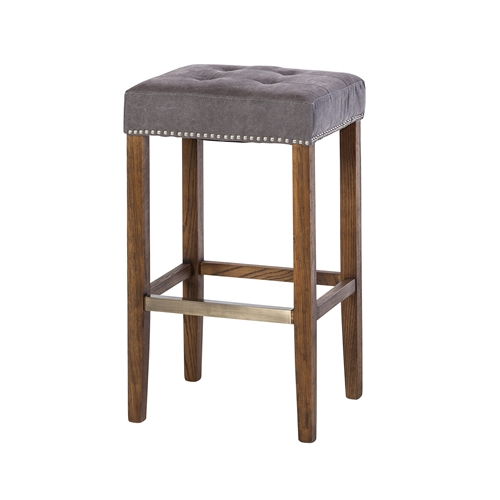 Ash Bar Stool in Frost Grey