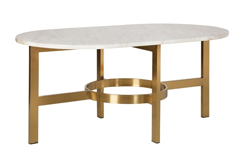 Versailles Marbled Coffee Table in Antique Brass