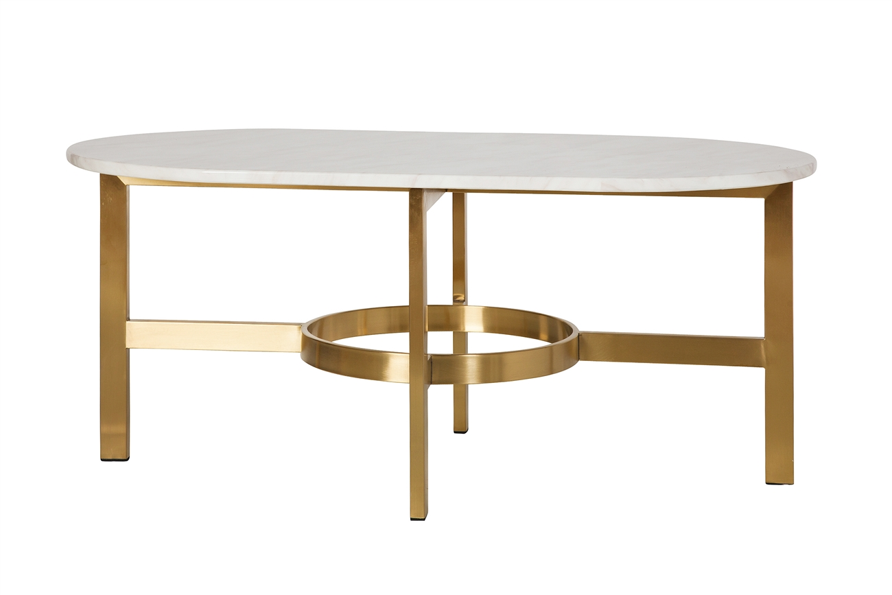 Versailles marbled coffee table in antique brass the khazana home versailles marble coffee table geotapseo Choice Image