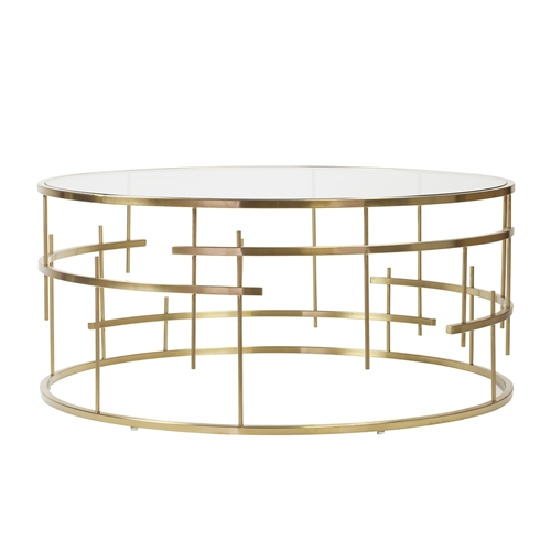 Esme Brushed Gold Coffee Table