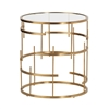 Esme Brushed Gold End Table