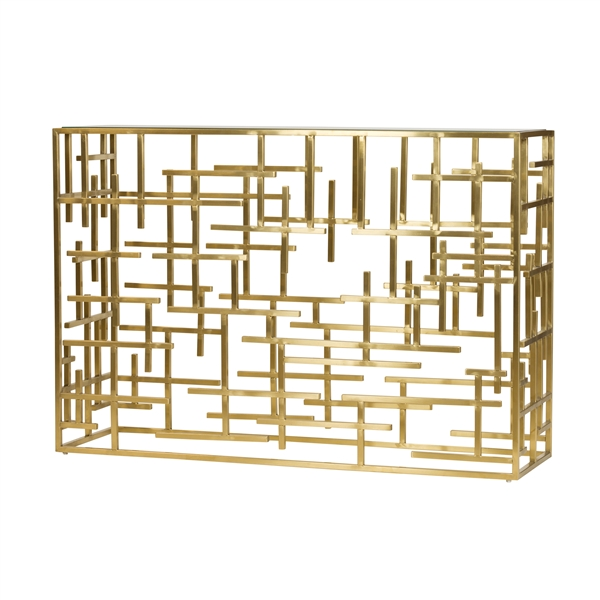 Esme Console Table in Brushed Gold