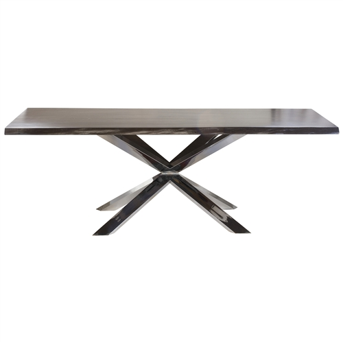 Jules Polished Steel Dining Table