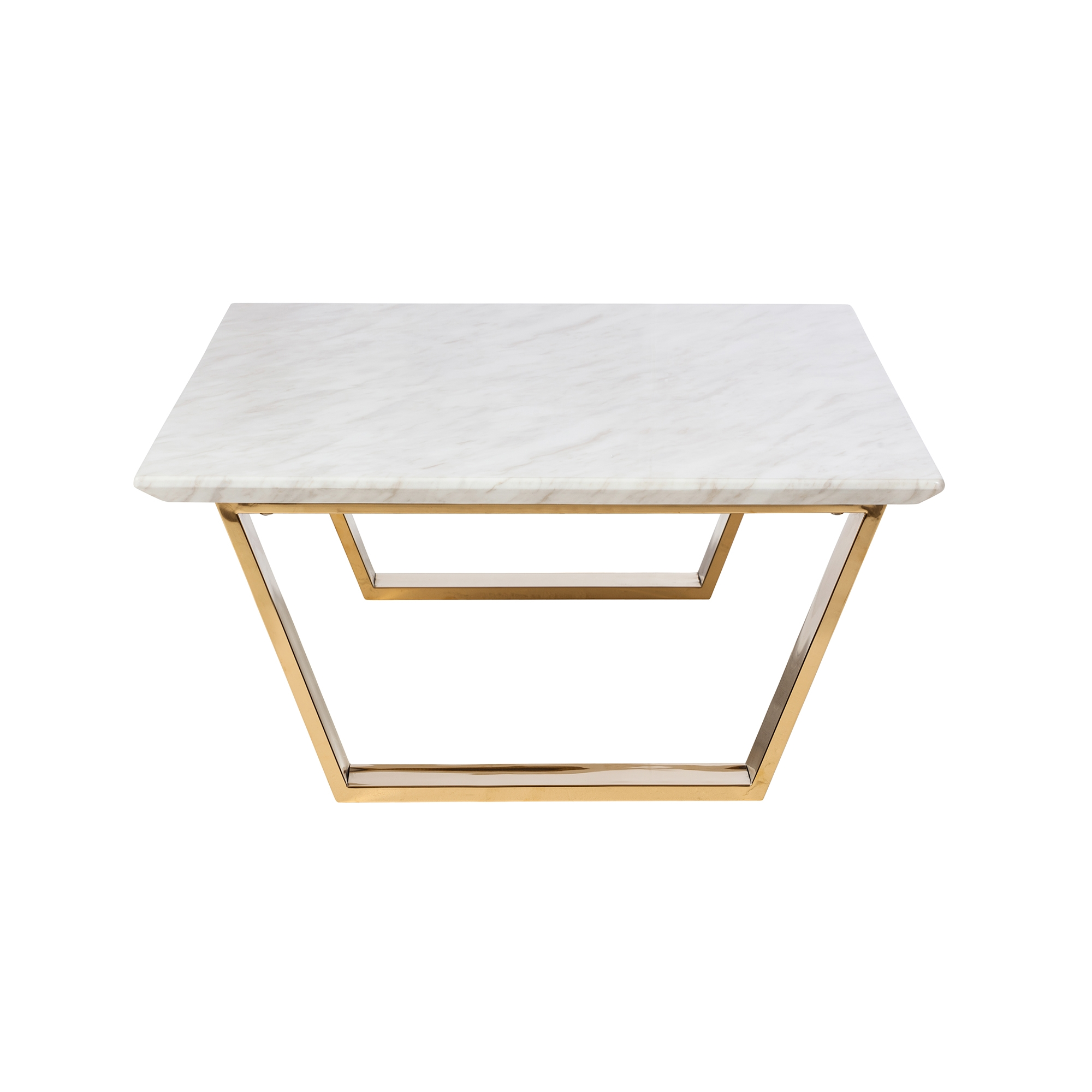 Catrine Marble Coffee Table In Polished Gold