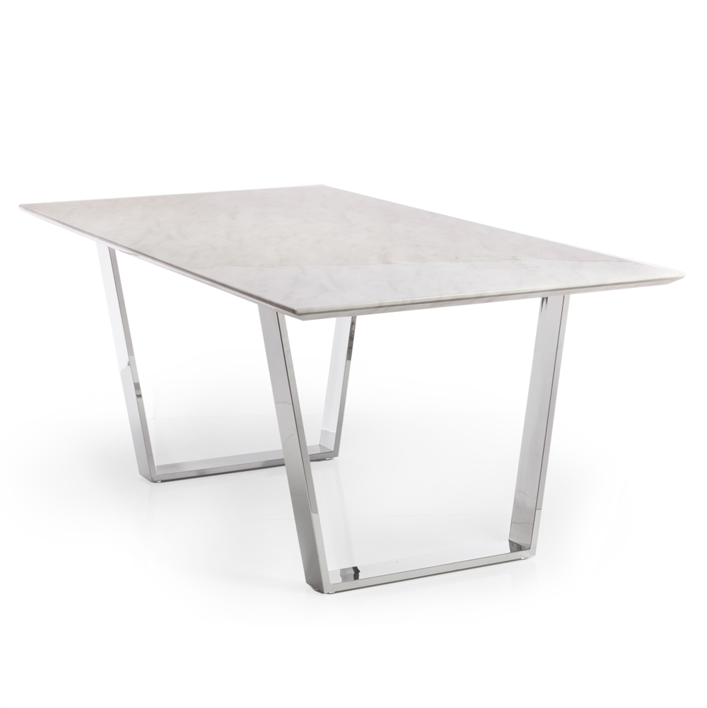 Etonnant Versailles White Marble Dining Table