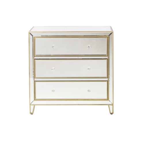 Mirrored Three Drawer Dresser