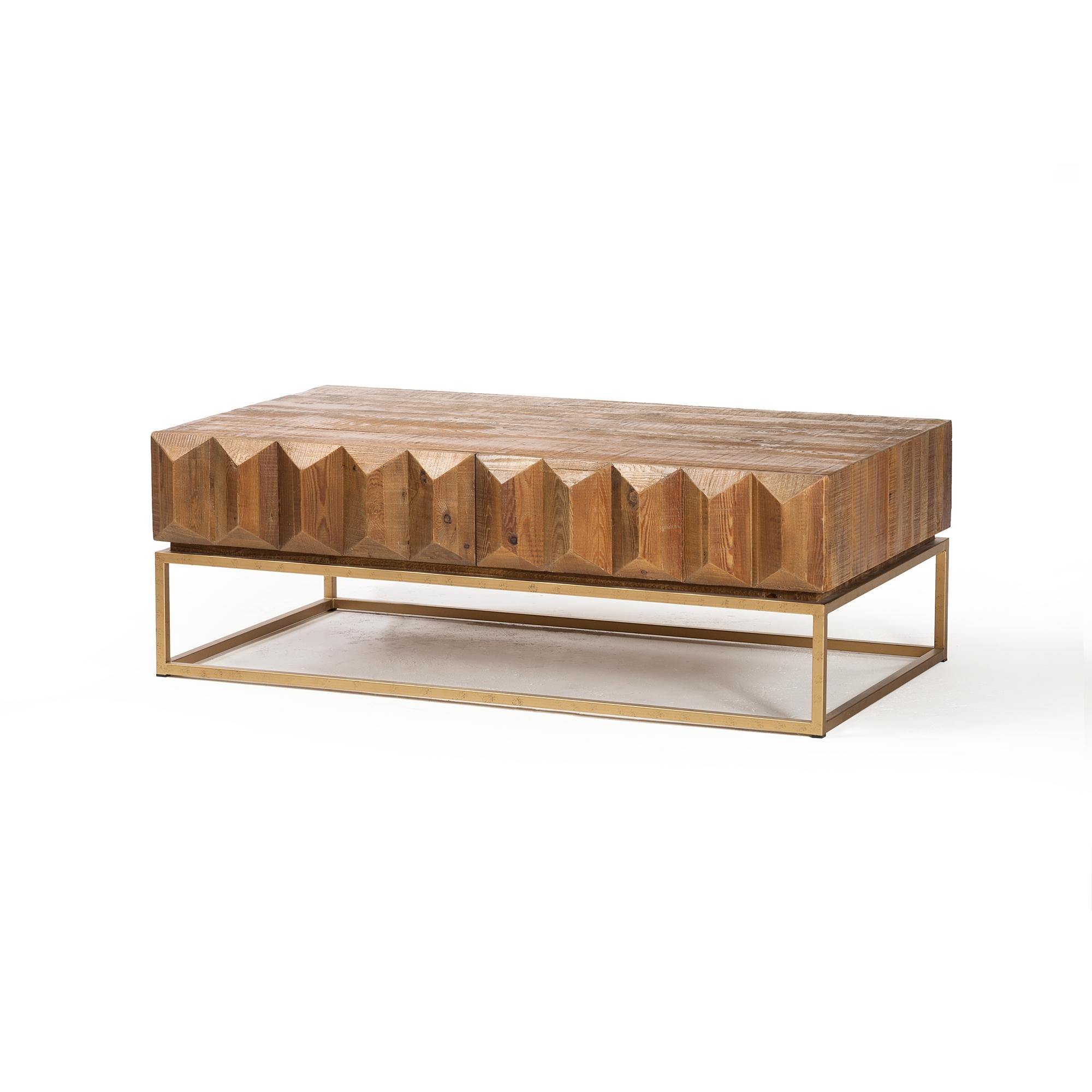 Horus Reclaimed Pine Coffee Table, The Khazana Home Austin Furniture Store