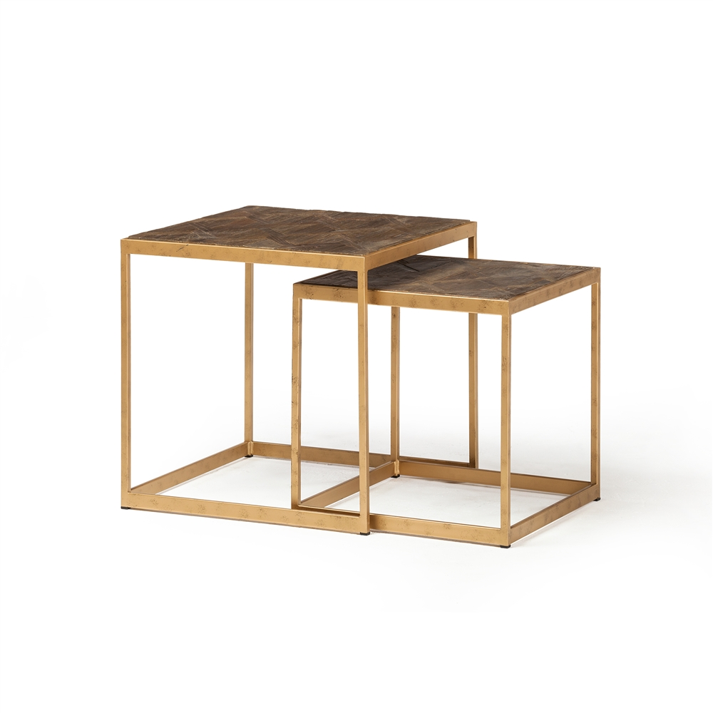 Farrah Reclaimed Elm Nesting End Tables