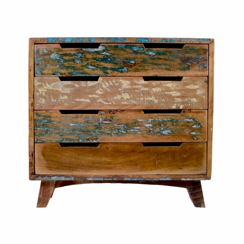 Reclaimed Mango Wood 4 Drawer Chest