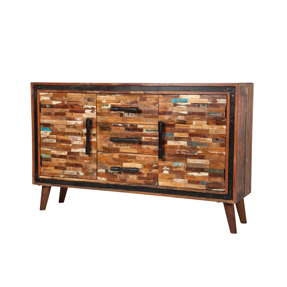 Jaipur Mixed Wood Sideboard - Jaipur Reclaimed Sideboard, The Khazana Home Austin Furniture Store