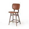 Sloan Counter Stool in Brown Leather