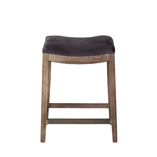 Harper Counter Stool In Plum Grey