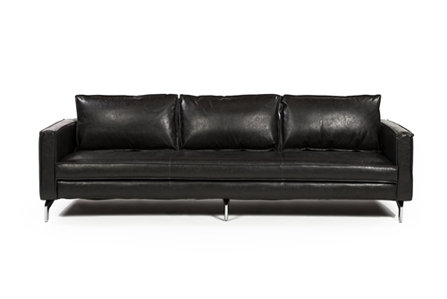 "Madison 99"" Three Seater Sofa - Distressed Black"