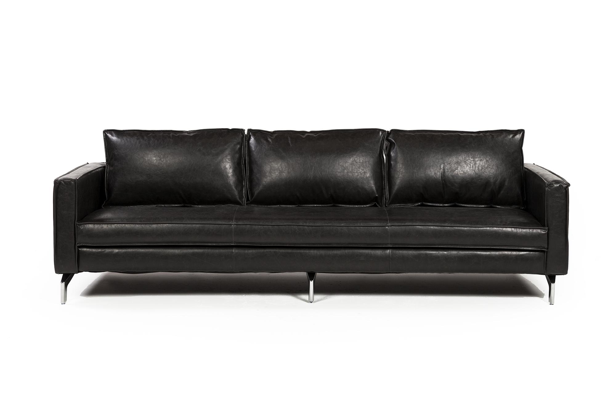 Madison 99 Quot Three Seater Sofa Distressed Black The