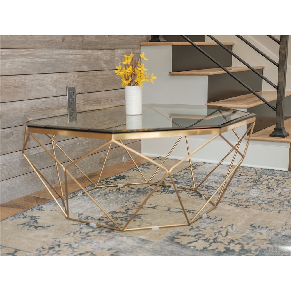 Beau Marlow Antique Brass Coffee Table