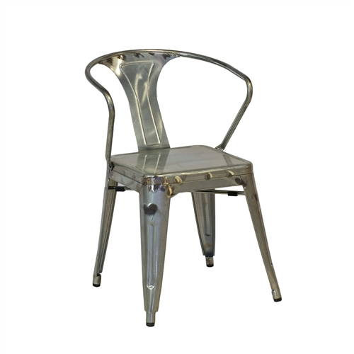 Tolix Arm Chair in Galvanized Metal