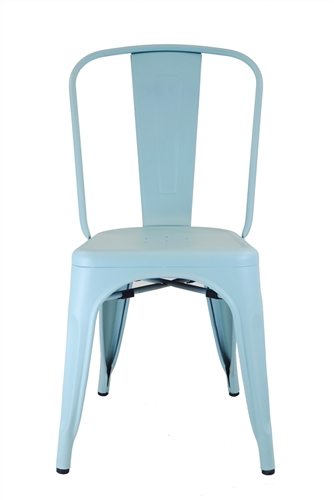Tolix Side Chair in Matt Blue Galvanized Steel