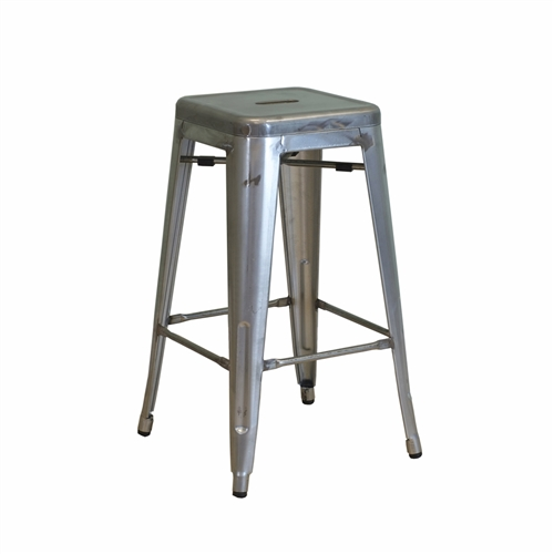 Retro Cafe Tolix Counter Stool Gun Metal