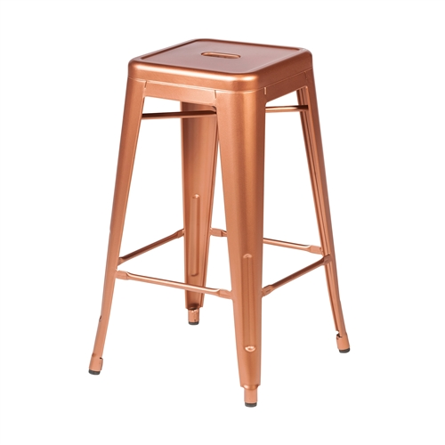 Retro Cafe Tolix Counter Stool Copper