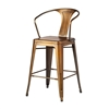 Bastille Counter Stool Antique Brass