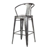 Tolix Bar Stool in Dark Gun Metal