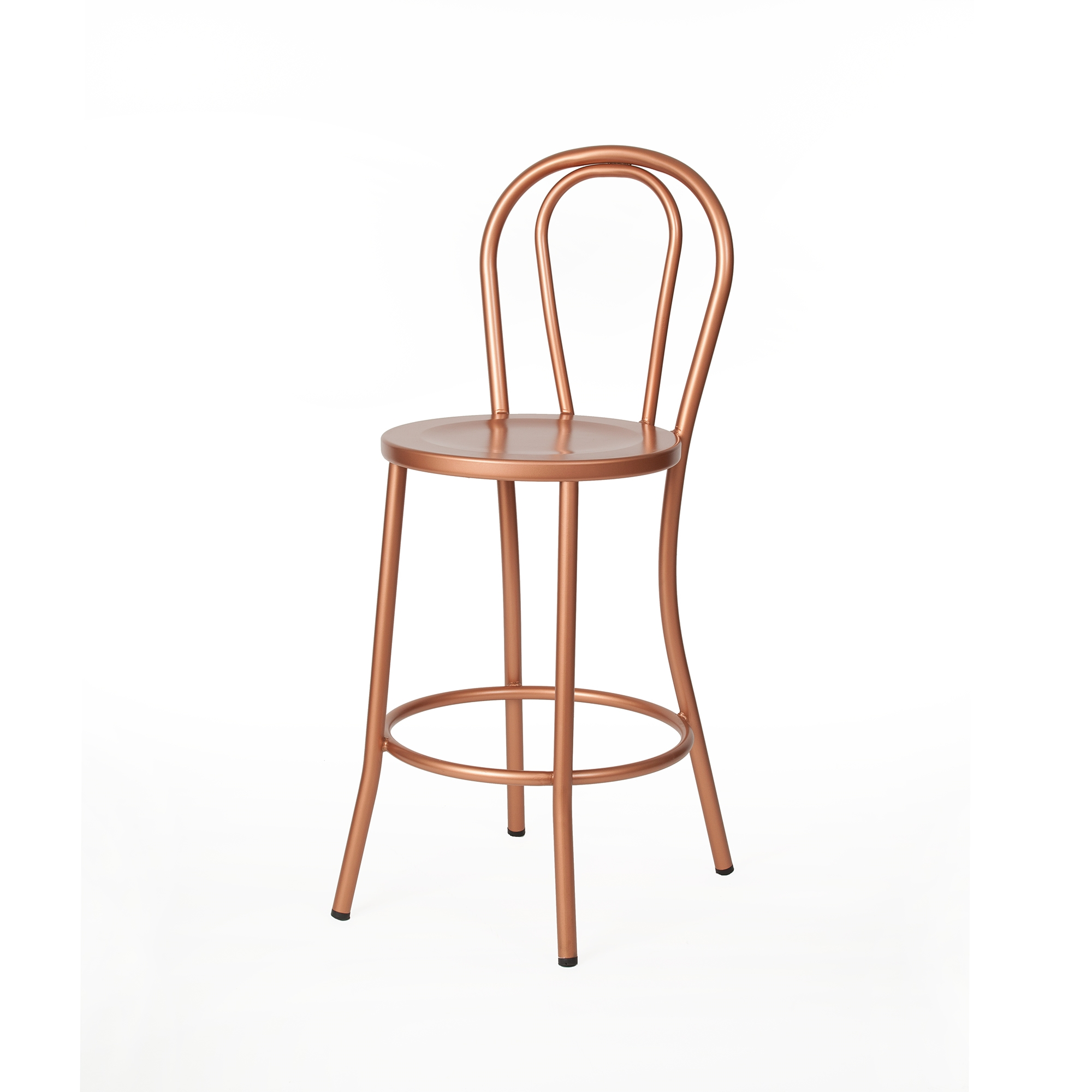 French Cafe Counter Stool In Copper The Khazana Home Austin