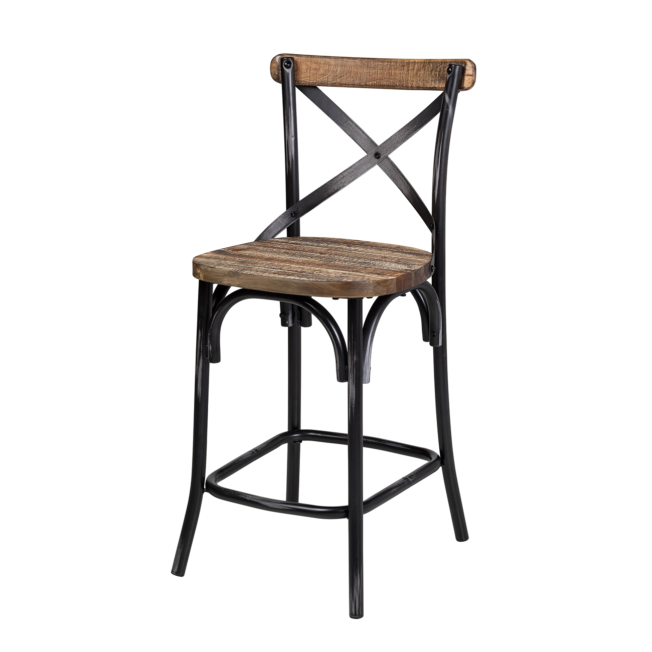 Rustic Reclaimed Pine Counter Stool Larger Photo Email A Friend
