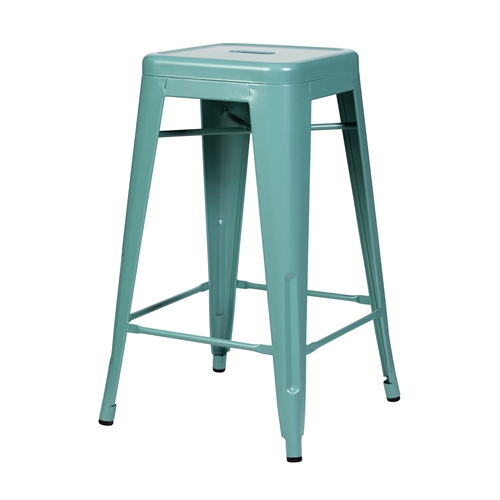 Bastille Counter Stool in Teal Blue
