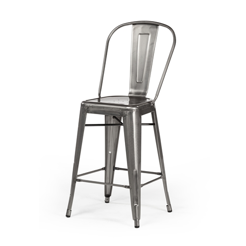 Bastille Counter Stool Gun Metal