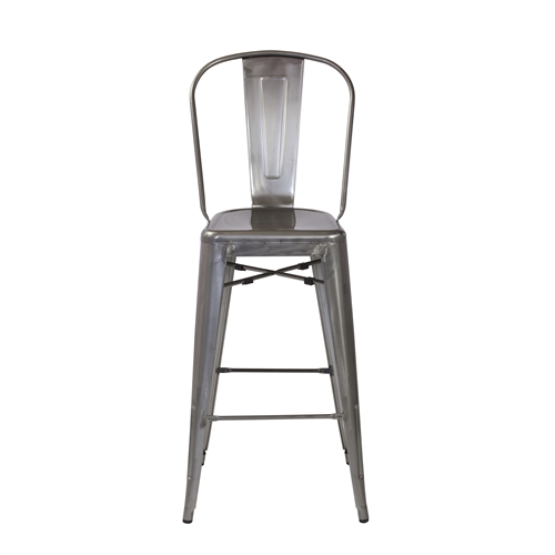 Bastille Bar Stool Gun Metal
