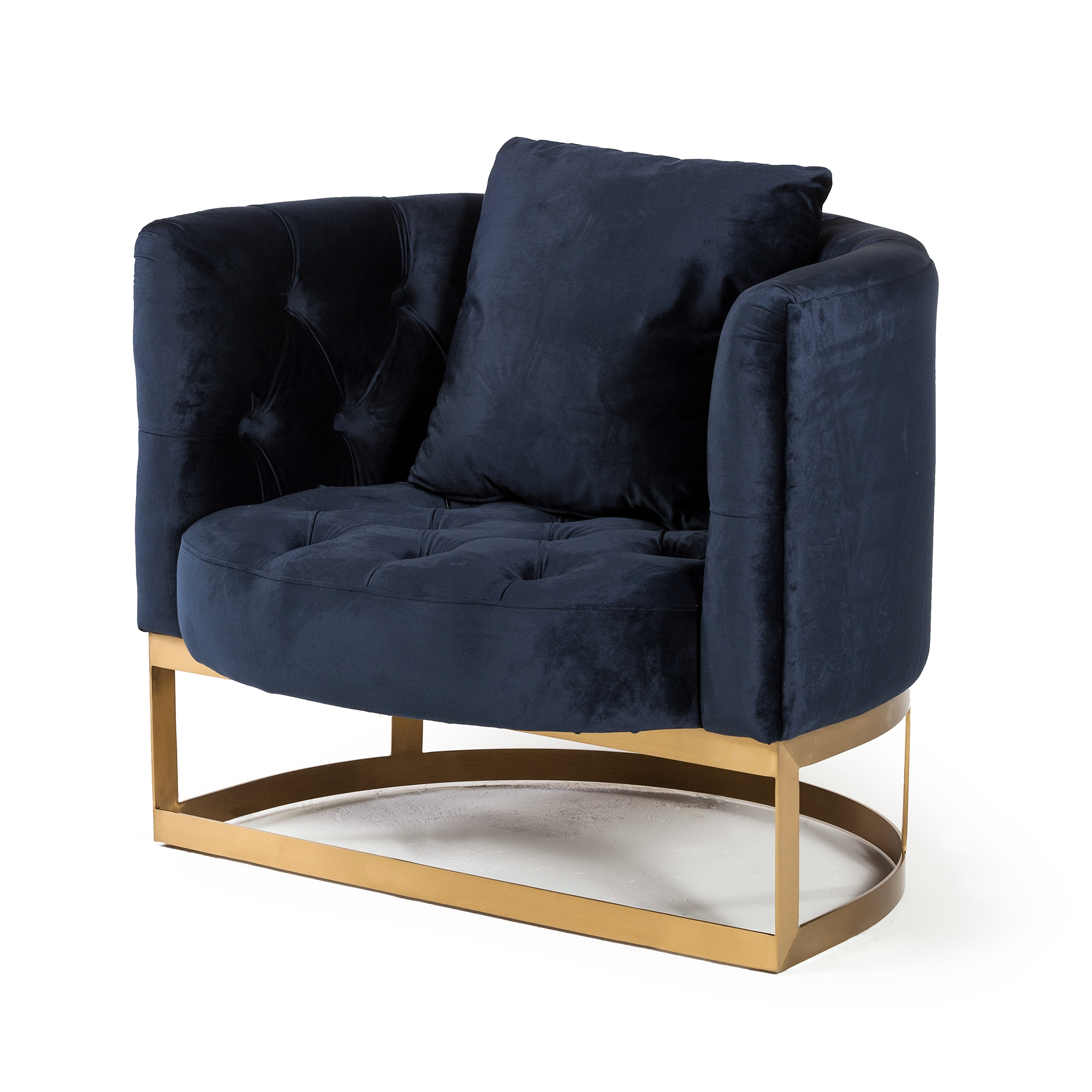 Bach Occasional Chair In Navy Blue Velvet