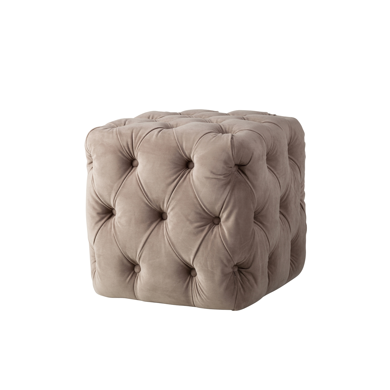 Wondrous Grace Tufted Ottoman In Taupe Dailytribune Chair Design For Home Dailytribuneorg
