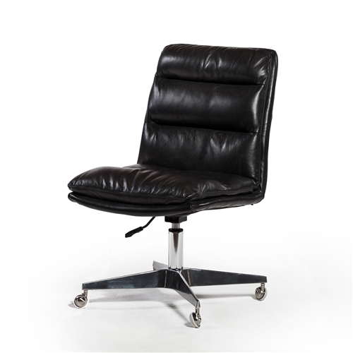 Carnegie Malibu Desk Chair in Rider Black