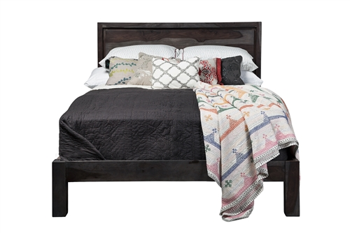 Vega Reclaimed Mango Wood Queen Bed Frame