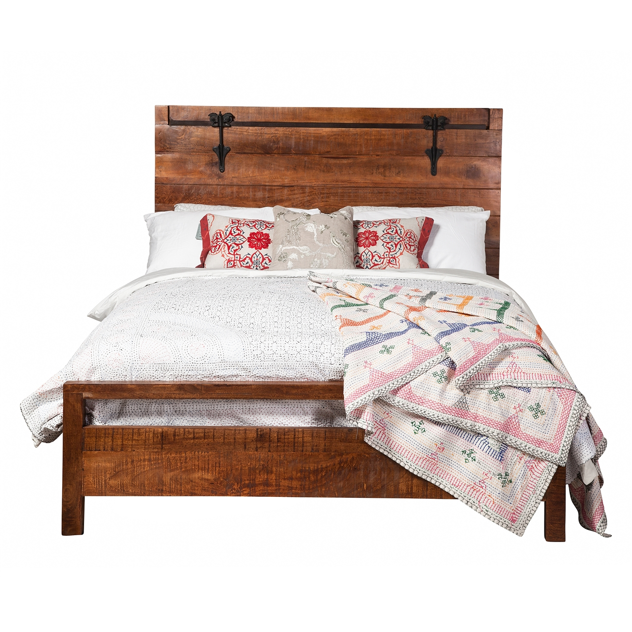 Owen Reclaimed Mango Wood Queen Bed Frame, The Khazana Home Austin ...