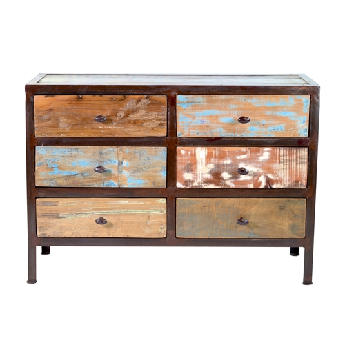 Vintage Reclaimed 6 Drawer Dresser