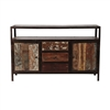 Reclaimed Mango Wood 2 Door Entertainment Console