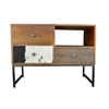 Vintage Patchwork Entertainment Console