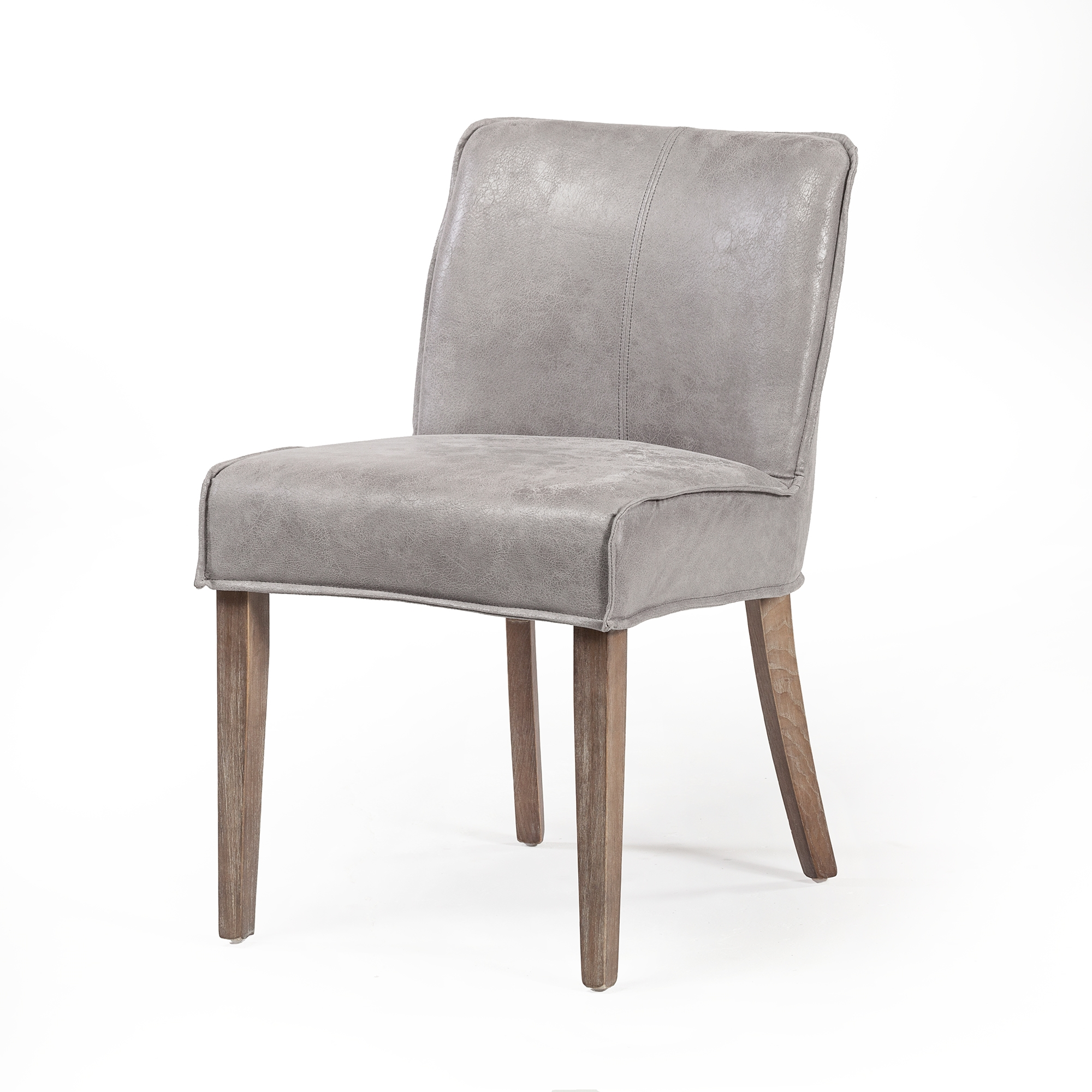 Swell Ariel Dining Chair In Distressed Grey Leather Gmtry Best Dining Table And Chair Ideas Images Gmtryco