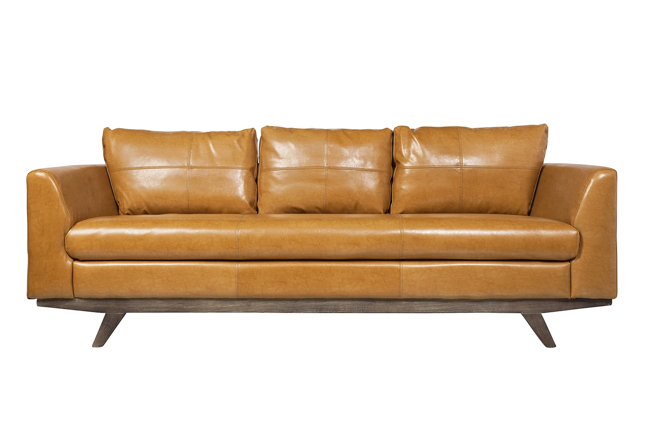 Maxwell 3 Seater Leather Sofa, The Khazana Home Austin Furniture Store