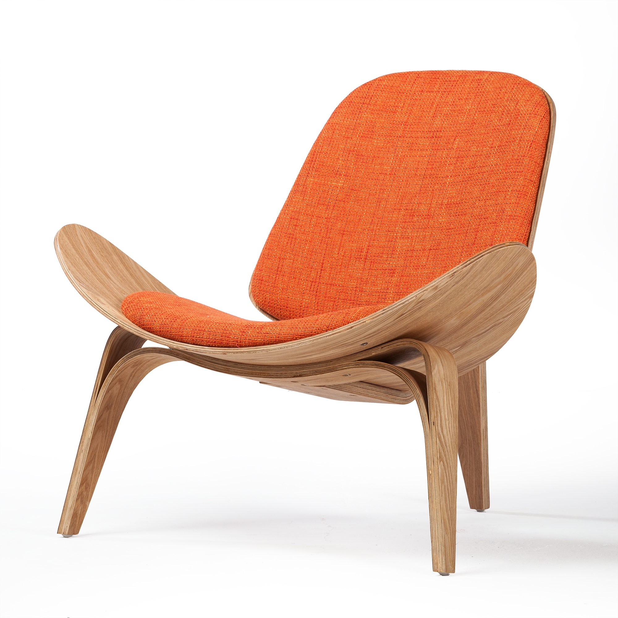Shell Inspired Chair 07 Hans Wegner Orange Larger Photo Email A Friend