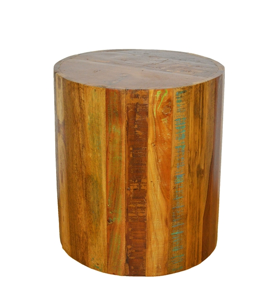 Reclaimed Cylinder EndTable