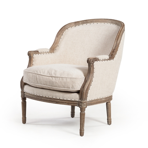 Bergere Occasional Chair in Natural White